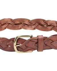 Linea Pelle Vintage Twist Braided Belt - Lyst