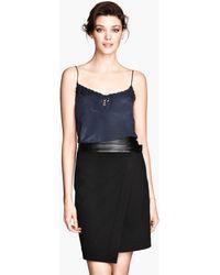 H&M Wraparound Skirt - Lyst