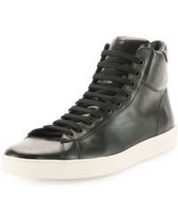 Tom Ford Russel Leather Hightop Sneaker - Lyst