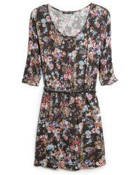 Mango Floral Print Lightweight Dress - Lyst