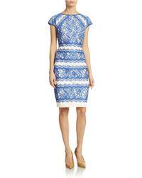 Tadashi Shoji Lace Sheath Dress - Lyst