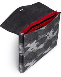 Seventy Eight Percent | 'leo' Camouflage Canvas Document Holder | Lyst