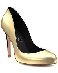 Shoes Of Prey - Round Toe Metallic Pump - Lyst