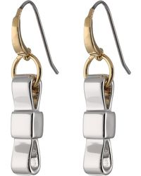 Marc By Marc Jacobs All Tied Up Upright Bow Tie Earring - Lyst