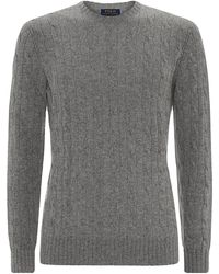 Polo Ralph Lauren Cashmere Cable Knit Sweater - Lyst