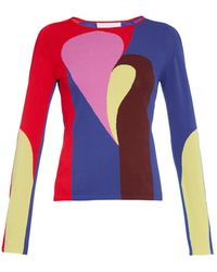 Peter Pilotto Astro Abstract-Intarsia Sweater - Lyst