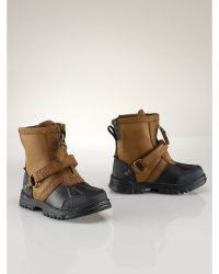 Ralph Lauren Conquest Hi Leather Boot - Lyst