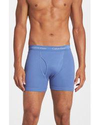 Calvin Klein Boxer Briefs, (3-Pack) blue - Lyst