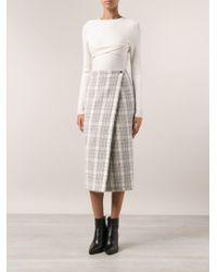 Yigal Azrouel Wrap Skirt - Lyst
