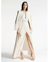 Halston | Arch Ring Pleated Gown | Lyst