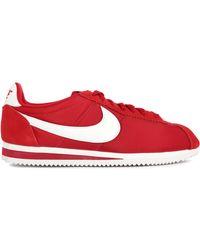 Nike | Cortez Red Nylon Sneakers | Lyst