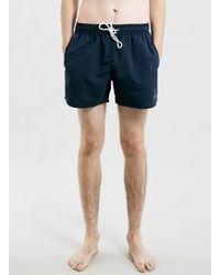 Topman Navy Neptune Swim Shorts - Lyst