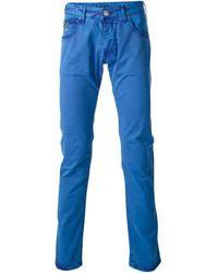 Armani Jeans Skinny Fit Trouser - Lyst