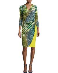 Natori Deco Wave-Dot Printed Dress - Lyst
