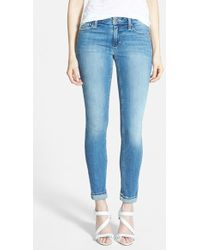 Joe's Jeans 'Cool Off' Rolled Ankle Skinny Jeans - Lyst