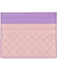 Bottega Veneta Intrecciato Nappa-Leather Card Holder - For Women pink - Lyst