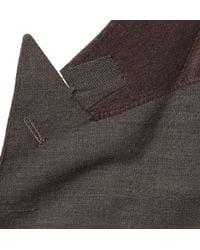 Thom Sweeney Brown Gilbert Doublebreasted Wool Suit