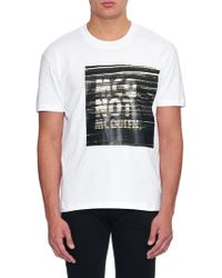 McQ by Alexander McQueen Slogan-Print Cotton T-Shirt white - Lyst