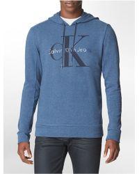 Calvin Klein Jeans Slim Fit Large Logo Cotton Blend Pullover Hoodie - Lyst
