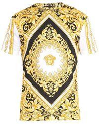 Versace Iconic Baroque-print T-shirt - Lyst