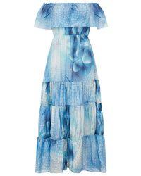 Athena Procopiou Cosidre Angel Maxi Dress - Blue