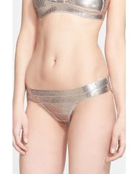 Hervé Léger Sequin Bandage Bikini Bottoms - Lyst