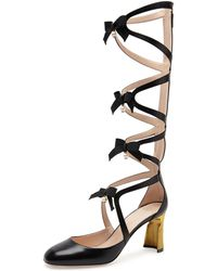Gucci | Pebbles Lace-up Gladiator Boot | Lyst