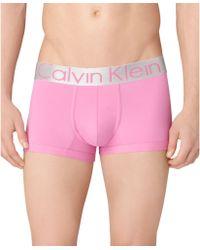 Calvin Klein Mens Steel Microfiber Low Rise Trunk - Lyst