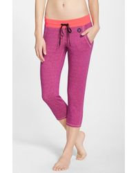 Hurley 'dri-fit' Fleece Cropped Pants - Pink