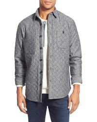 Wallin & Bros. Trim Fit Quilted Shirt Jacket - Grey