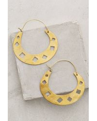 Wendy Mink | Diamond Punched Hoops | Lyst