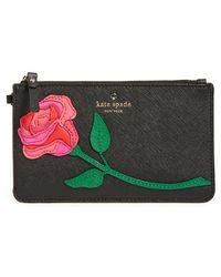 Kate Spade   'rose Applique - Slim Bee' Wristlet   Lyst