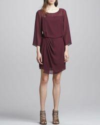 Textile Elizabeth And James Surai Chiffon Faux Wrap Dress - Lyst
