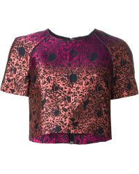 Matthew Williamson Pink Cropped T-Shirt - Lyst