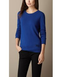 Burberry Cashmere Cotton Sweater - Lyst