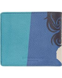 Burberry Prorsum - Black And Blue The Writer Bifold Wallet - Lyst