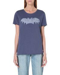 Zoe Karssen Bat Tshirt Nightshadow Blue - Lyst