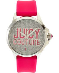 Juicy Couture 1901144 Silver-Tone & Pink Watch - Lyst