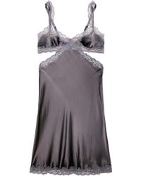 Stella McCartney Clara Whispering Lacetrimmed Stretchsilk Satin Chemise - Lyst