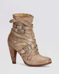 Frye Booties - Mikaela Strappy High Heel - Lyst