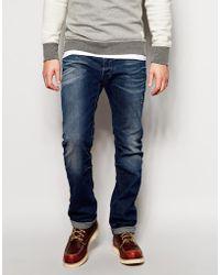 Diesel Jeans Safado Straight Fit 838D Mid Distress Wash - Lyst