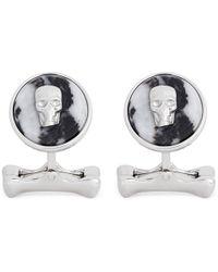 Alexander McQueen Skull Marble Cufflinks - Lyst