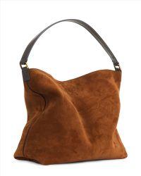 Jaeger Oxford Leather Hobo Bag - Brown