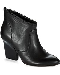 Belle By Sigerson Morrison Nicki Scalloped Ankle Boots - Lyst