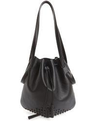 Tod's Secchiello Drawstring Leather Bucket Bag - Lyst