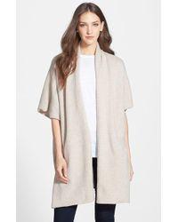 Eileen Fisher Kimono Sleeve Knit Cape - Lyst