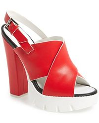 Topshop Women'S 'Lotus' Platform Sandal - Lyst