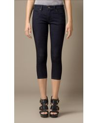 Burberry Skinny Cropped Low-rise Jeans - Lyst