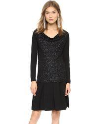 Donna Karan New York Off The Shoulder Cashmere Sweater Black - Lyst