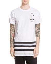 Civil Regime - 'league' Longline T-shirt With Zip Detail - Lyst